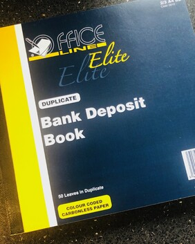 9810 Officeline Elite Bank Deposit Book Dup 50/s