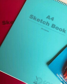1073 A4 Sketch Book 20 pg Spiral Poly
