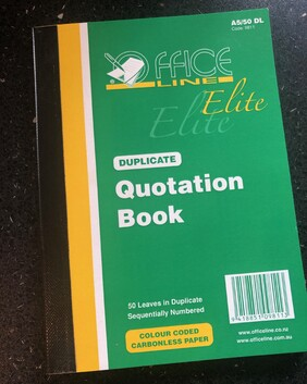 9811 Elite Quotation Book A5/50 Dup NCR