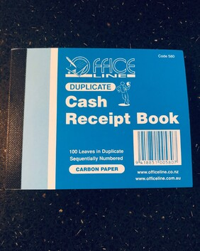 580 Cash Receipt Book 100 leaves Dup